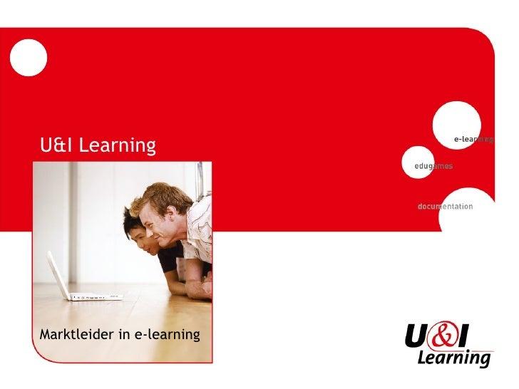 U&I Learning Marktleider in e-learning