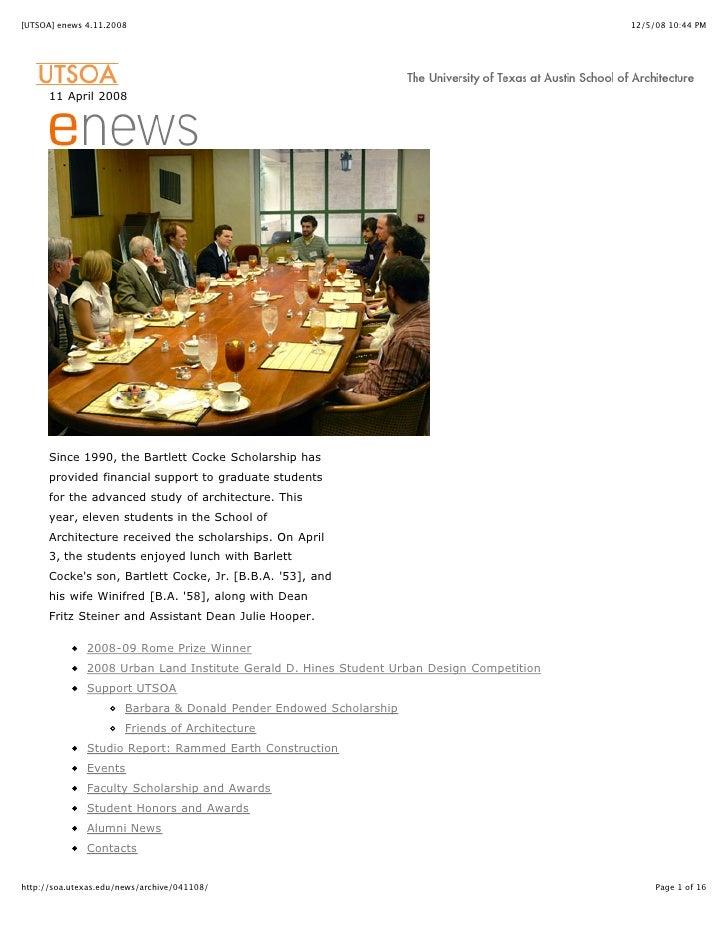 [UTSOA] enews 4.11.2008                                                                    12/5/08 10:44 PM           11 A...