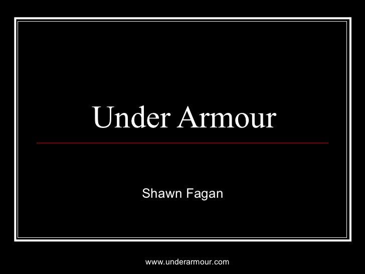 Under Armour Shawn Fagan www.underarmour.com