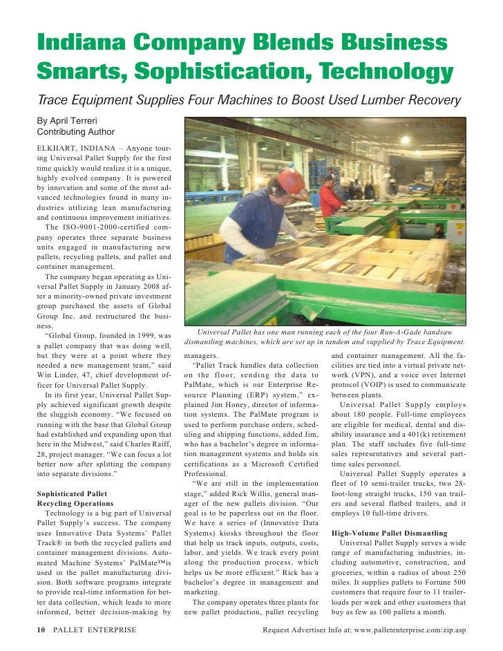 Universal Pallet Supply Article (Pallet Enterprise)