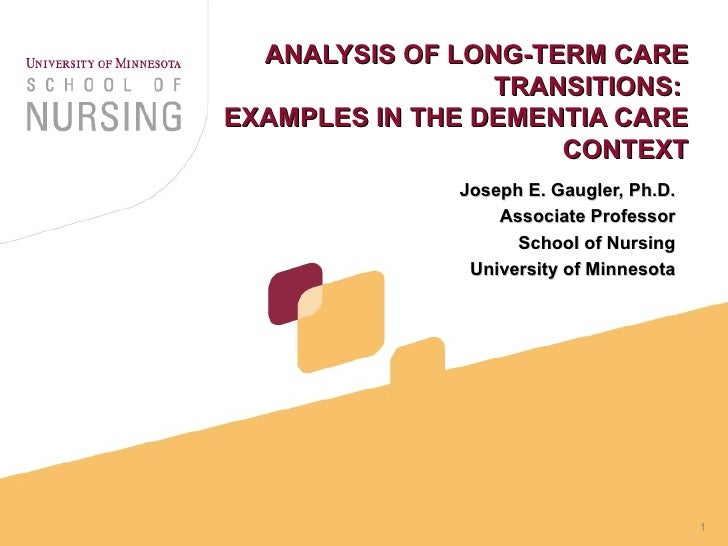 an analysis of aging and long term care Master of arts successful aging conceptualization and long-term care: a comparative content analysis of brochure advertising perspective.