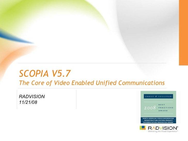 Scopia V5.7 Solution