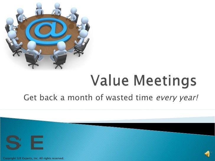 Value Meetings Promo