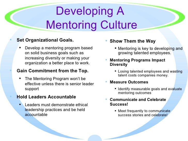 How to Develop a Mentoring Culture in an Organisation