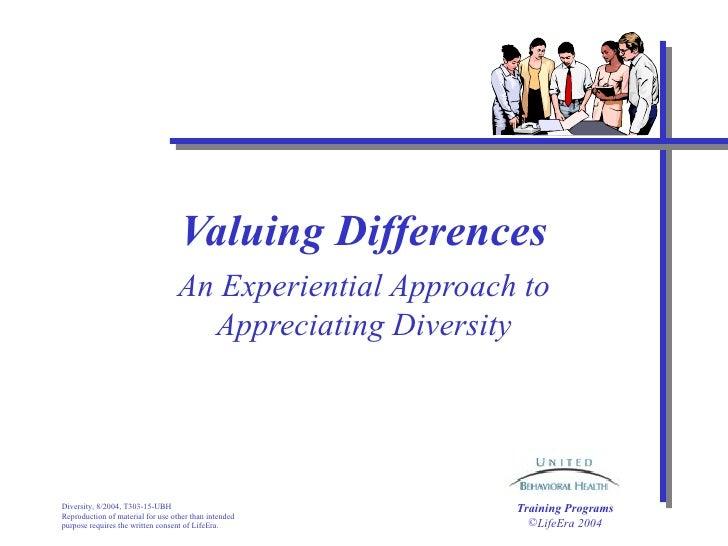 Valuing Differences Diversity Presentation