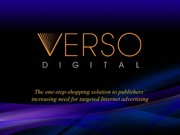 The one-stop-shopping solution to publishers' increasing need for targeted Internet advertising