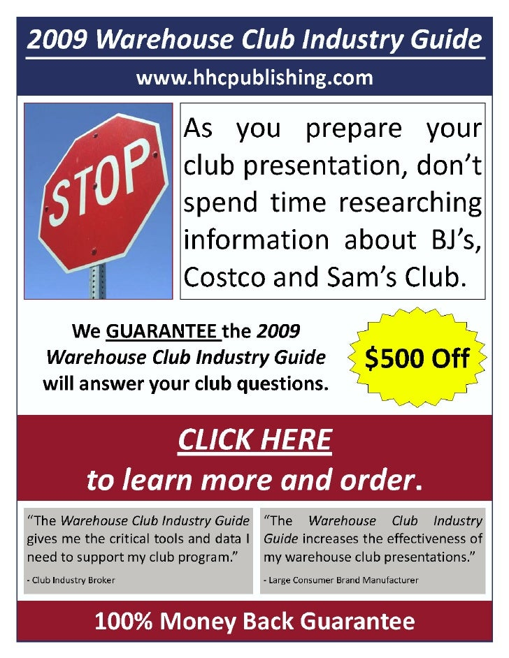 December 30, 2008 WAREHOUSE CLUB FOCUS                                                                            Volume 1...