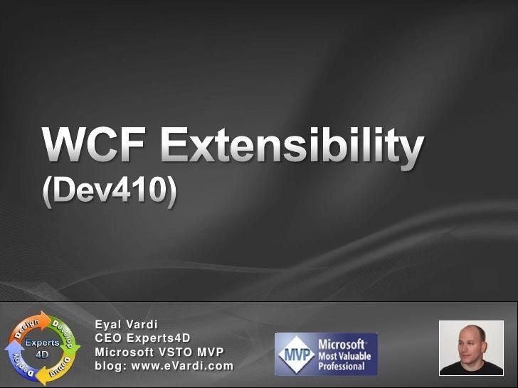 Eyal Vardi CEO Experts4D Microsoft VSTO MVP blog: www.eVardi.com