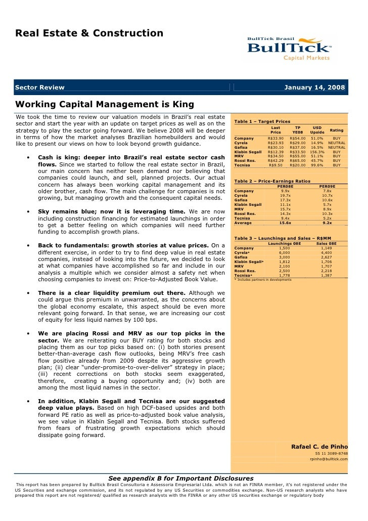 Working Capital Management is King