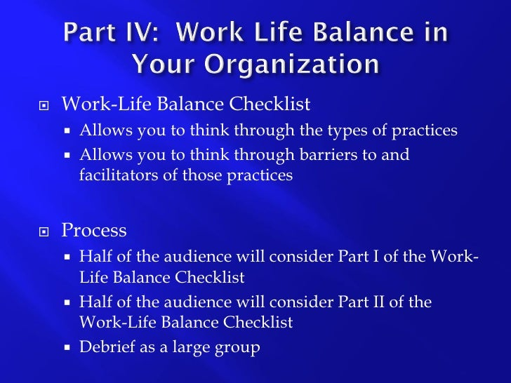 Work-Life Balance Defined