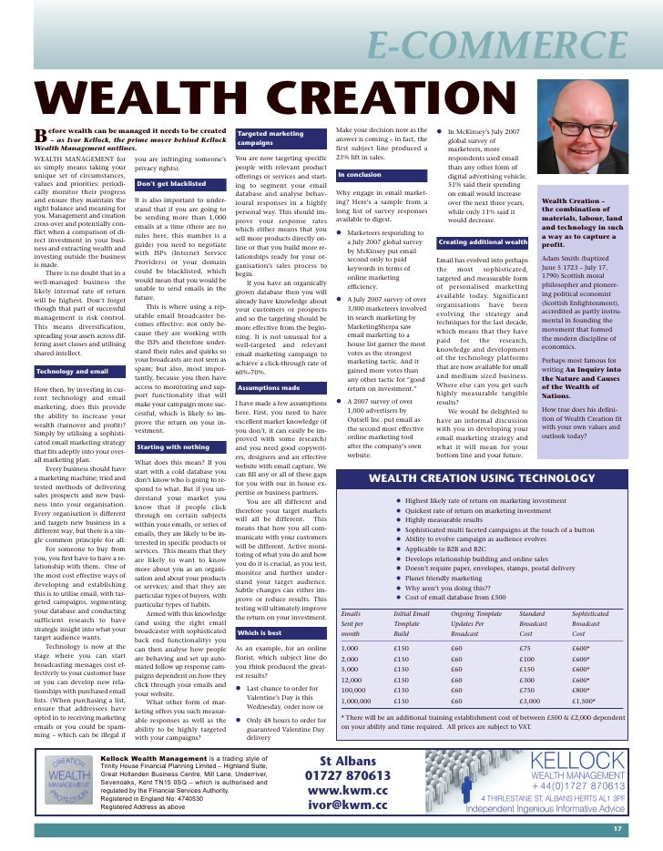 E-COMMERCE WEALTH CREATION                                                                                                ...