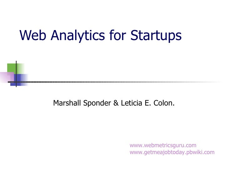 Web Analytics For Startups