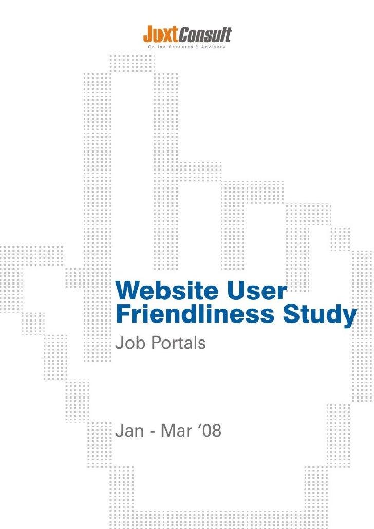 Website User Friendliness Study