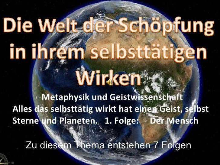 True human-technology_Welt der Schöpfung Teil 1 Mensch