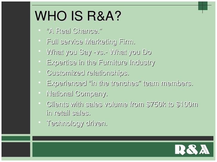 Whos R&A Presentation