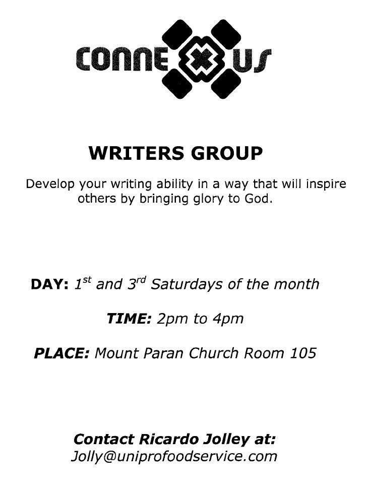 Writer's Connection Writer's Group Flyer