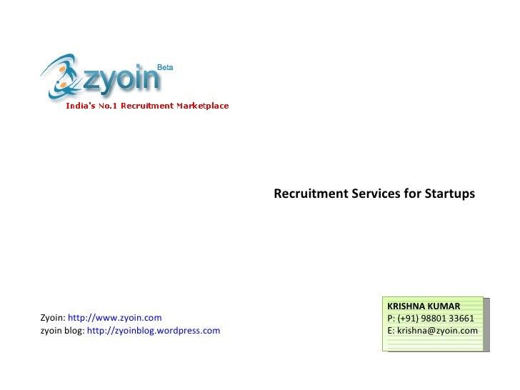 Zyoin Startup Recruitment