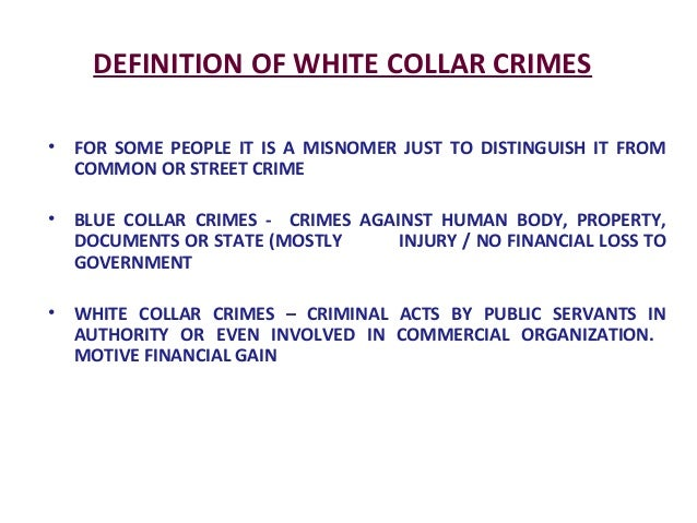 Essay On White Collar Crime