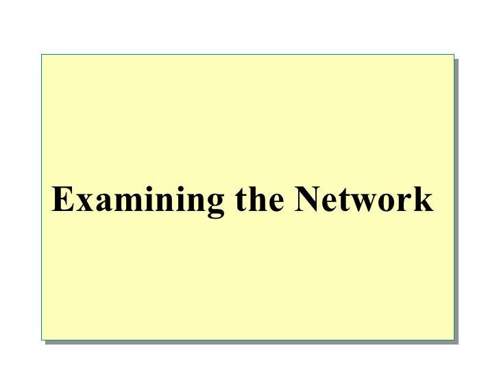 Examining the Network