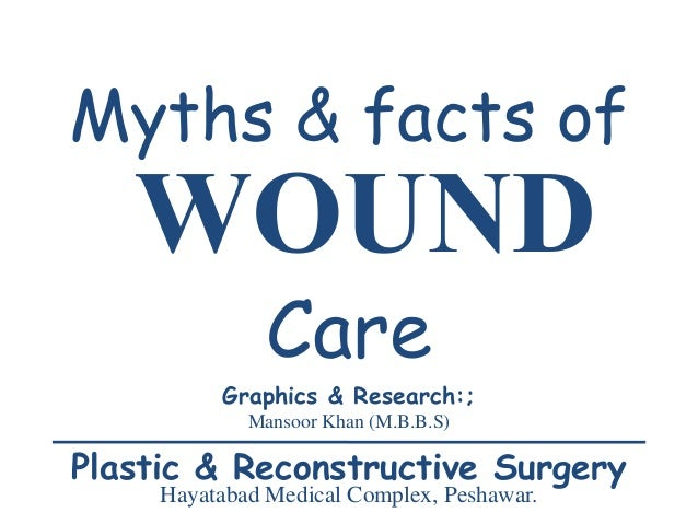 WOUND Myths & facts of Care Graphics & Research:; Mansoor Khan (M.B.B.S) Plastic & Reconstructive Surgery Hayatabad Medica...
