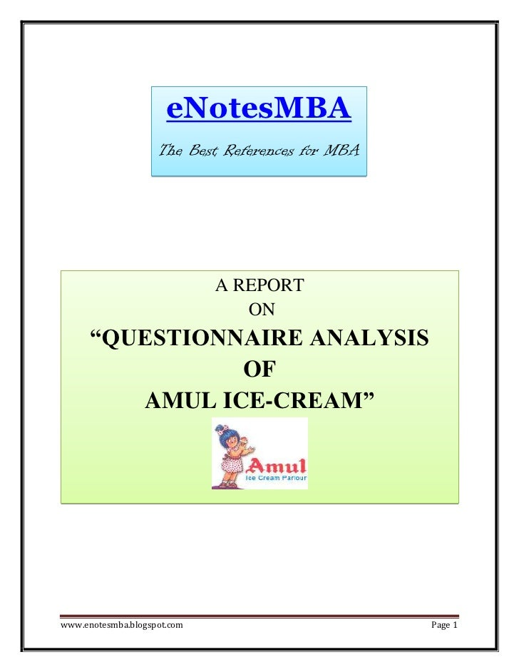 eNotesMBA                    The Best References for MBA                             A REPORT                             ...