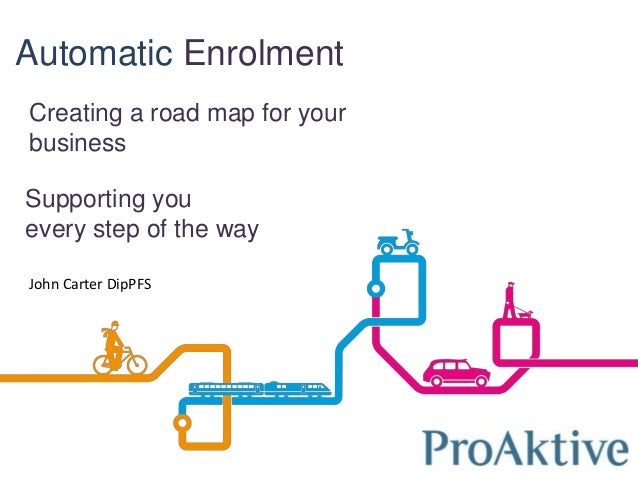 Automatic Enrolment Creating a road map for your business Supporting you every step of the way John Carter DipPFS
