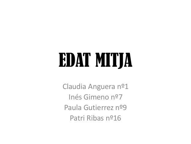 EDAT MITJA / EDAD MEDIA
