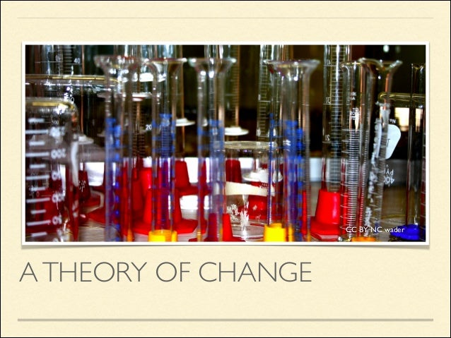 CC BY NC wader  A THEORY OF CHANGE