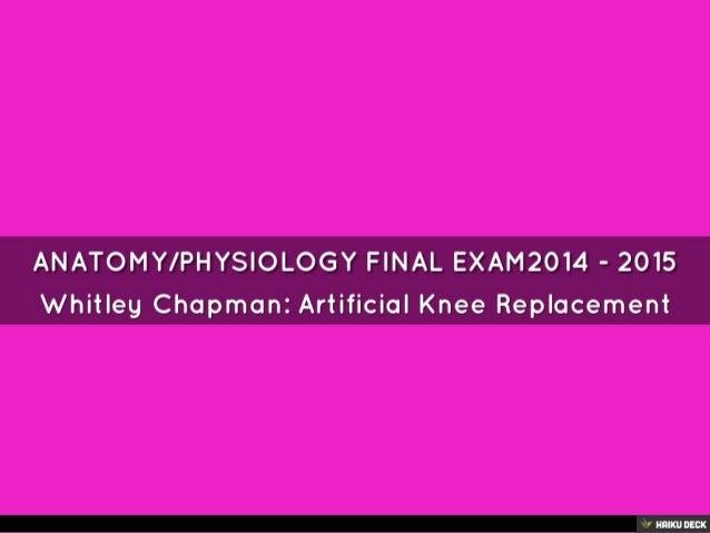 Anatomy final exam