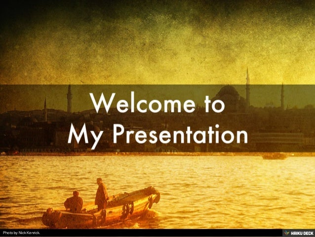 What to do my presentation on