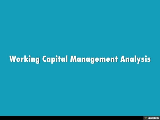 working capital analysis of four cement You're on a roll keep up the good work  four factors of production: land,  labor, capital & entrepreneurship what is a traditional economy  tecep  security analysis & portfolio management: study guide & test prep ohio  assessments.