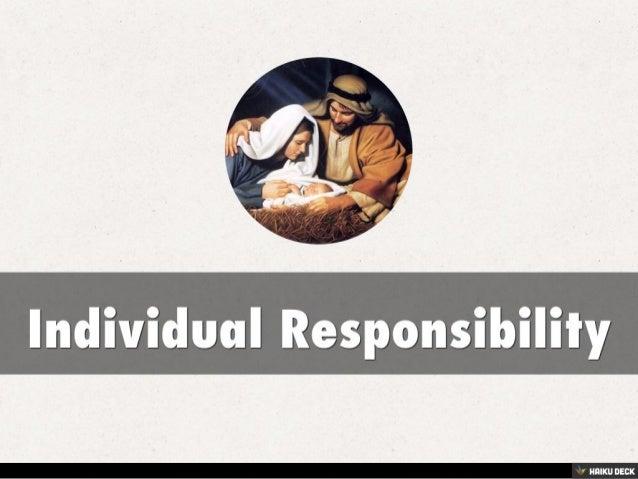 individual responsibility