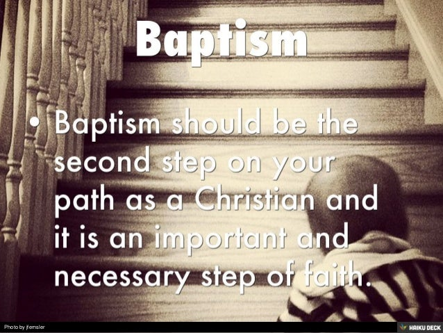 importance of baptism Importance of baptism baptism proves our submission to christ's authority and represents his death and resurrection for our salvation only those born of the spirit.
