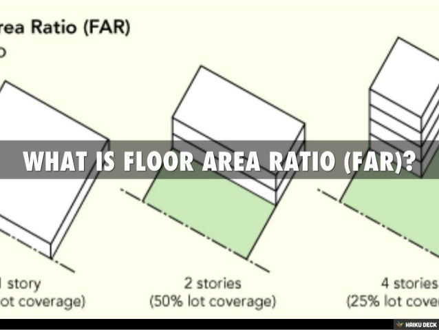 What is floor area ratio far for Define floors