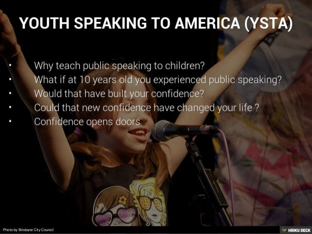 Youth Speaking to America