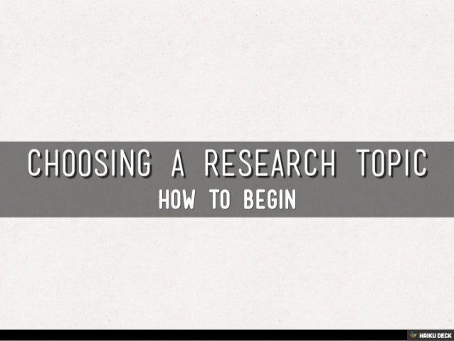 finding a research topic Check out the video below for more information and tips on developing a topic brainstorming tools some students find it helpful to brainstorm in a visual way.