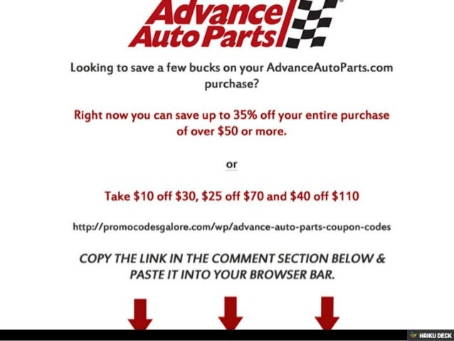 Car parts discount coupon
