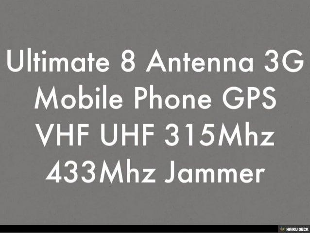 72 mhz jammer - 12 Antennas 433MHz Jammer