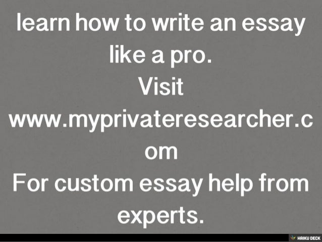 Learn how to write essay