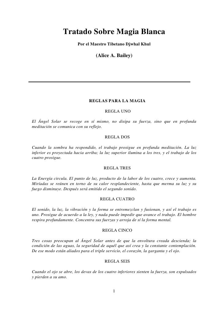 A A  Bailey -  Tratado Sobre Magia Blanca