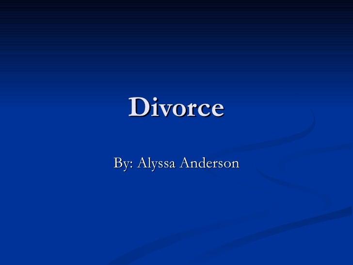 Reseach on divorce