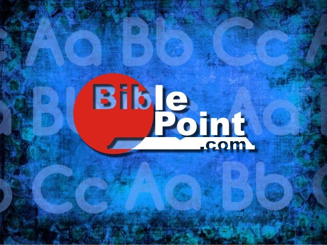 This Bible Point TM presentation is a complete Bible Lesson for use in the classroom or pulpit and still it is fully edita...