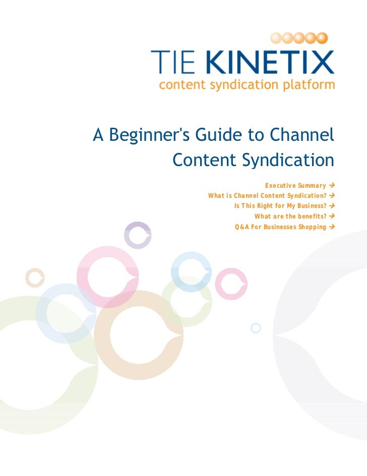 A Beginner's Guide to ChannelContent Syndication