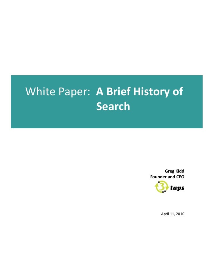 A Brief History of Search