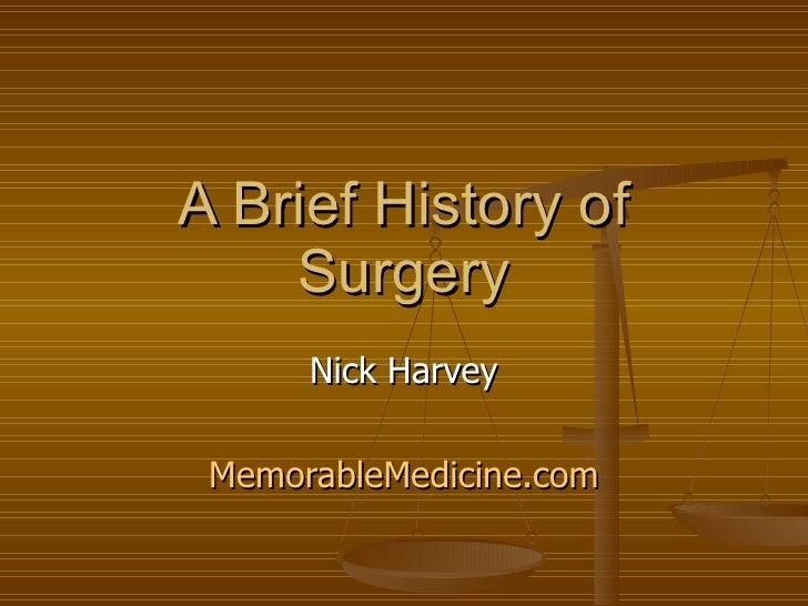 Brief history of surgery
