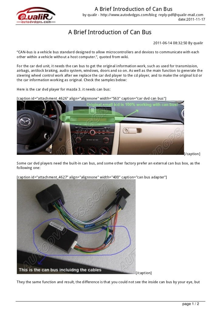 A Brief Introduction of Can Bus                                       by qualir - http://www.autodvdgps.com/blog reply-pdf...