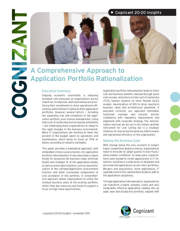 A Comprehensive Approach to Application Portfolio Rationalization
