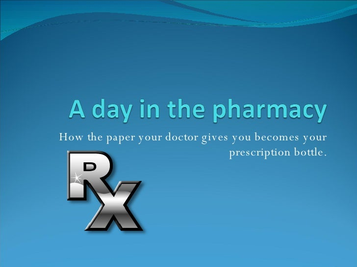 How the paper your doctor gives you becomes your prescription bottle.