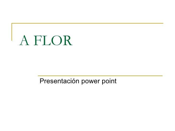 A FLOR Presentación power point