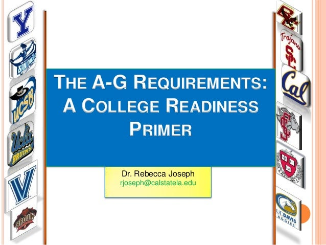 A-g requirements for college